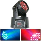 BeamZ MHL108MK3 Compacte moving head 18x 3W RGB LEDs