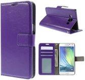 Cyclone wallet hoesje Samsung Galaxy A3 paars