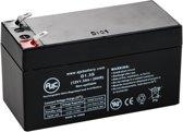 AJC® battery compatibel met Union MX-12012 12V 1.3Ah Lood zuur accu