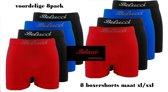 Belucci heren boxershorts microfiber (8pack) maat XL/XXL