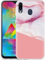Samsung Galaxy M20 Pink Marble Hoesje