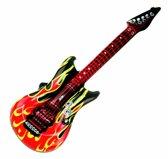 Opblaasbare gitaar met vlammen 100 cm
