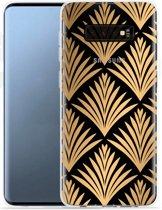 Galaxy S10 Plus Hoesje Art Deco Gold