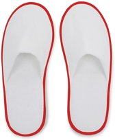 Small Foot Huis- Of Hotelslippers Wit / Bordeaux One Size
