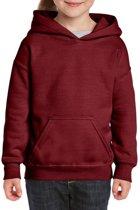 Bordeaux capuchon sweater voor meisjes 122-128 (S)