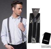 Bretels - Zwart - Sorprese - met stevige clip - luxe - heren bretels - unisex
