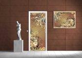 Deursticker Muursticker Abstract | Bruin | 91x211cm