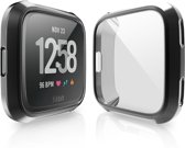 Full Cover Tempered Glass Fitbit Versa Protector - Black