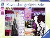 Ravensburger puzzel Style Collage New York City - Legpuzzel - 1000 stukjes