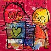 Poul Pava - Doek Twins - 120x120 cm