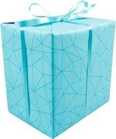 LOVLY® Cadeaupapier, 30cm, 200m, 80gr/m², Facet, 691, zeegroen