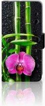 HTC U11 Life Hoesje Design Orchidee