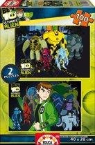 Puzzel 100 St - Ben 10 Alien Force (2x) (Door Educa)