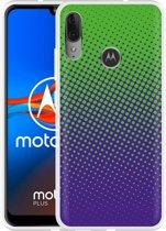 Motorola Moto E6 Plus Hoesje lime paarse cirkels