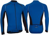 Avento Wielrenshirt Lange Mouw - Heren - Blauw/Zwart/Wit - XL