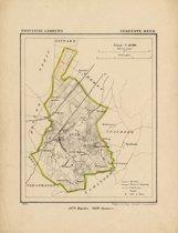 Historische kaart, plattegrond van gemeente Beek in Limburg uit 1867 door Kuyper van Kaartcadeau.com