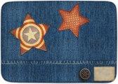 Kindertapijt jeanslook met sterren - 130 x 180 cm