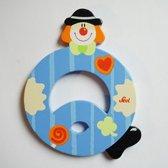 Sevi - Houten Clown letter Q - blauw
