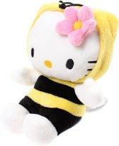 Hello Kitty Knuffel Tuinvrienden Bij Pluche Geel/zwart 15 Cm