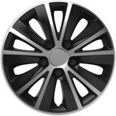 Wieldoppen 14 inch - Rapide zilver zwart - 4 stuks