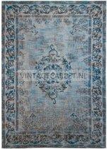 Loper Pinkpop azure blue - 70x140 cm - vintage - loper