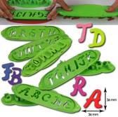 """Martellato uitstekerset """"letters alfabet"""" groot"""