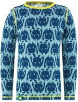 Monster shirt merino wol - blauw