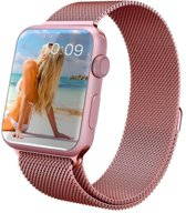 YONO Milanees bandje - Apple Watch Series 1/2/3/4 (38&40mm) - Rose Gold
