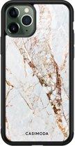 iPhone 11 Pro Max glazen hardcase - Marmer goud