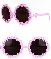 PartyXplosion - Bril - Flower Power - Roze