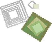 Sizzix Framelits Die Set Vierkant met Kartelrand, 6 stuks