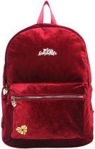 Rugtas/rugzak bordeaux rood fluweel/velvet - Schooltas - Back to School