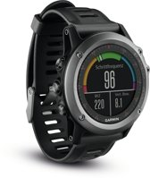 Garmin fēnix 3 - Sporthorloge met GPS - met hartslagmeter - Zwart/ Grijs