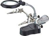 Helpende Derde / 3e Hand Soldeer Houder Met LED Lamp Vergrootglas & Soldeerbouthouder AA COMMERCE