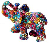 Barcino design barcelona mozaiek olifant in bloemdesign 10 cm