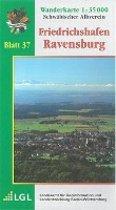 Karte des Schwäbischen Albvereins 37 Friedrichshafen - Ravensburg 1 : 35 000