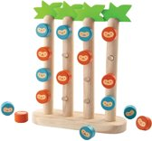 Plan Toys  houten kinderpel Monkey in a row. 4 op een rij voor kinderen