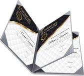 Rapportmap / Diplomamap / Certificaat Mappen - 4x A4 - Houtpatroon Grijs