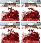 Confetti rode engeltjes 60 gram - Kerstversieringen engel confetti rood