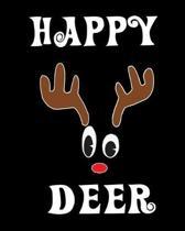 Happy Deer: Deer Elk Antler Hunting Hobby 2020 Monthly Planner Dated Journal 8'' x 10'' 110 pages