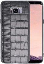 Croco Zwart hard case hoesje voor Samsung Galaxy S8 Plus