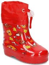 Playshoes regenlaarzen bosdieren rood
