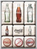 Nostalgic Art Magneet set Coca-Cola Bottle Timeline