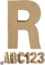 Papier mache letter R