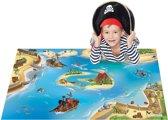 Groot speelkleed Jongenskamer Piraten 100x150