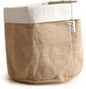SIZO jute bag natural/wit D20 H20cm
