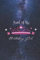 Aunt of the Birthday Girl - Princess Crown Heart Diamond Journal