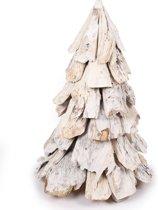 Houten kerstboom Whitewash Tree - 60 cm hoog - Wit