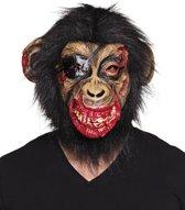 St. Latex hoofdmasker Bloederige aap met haar