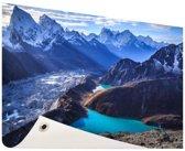 Himalaya landschap Nepal Tuinposter 60x40 cm - klein - Tuindoek / Buitencanvas / Schilderijen voor buiten (tuin decoratie)